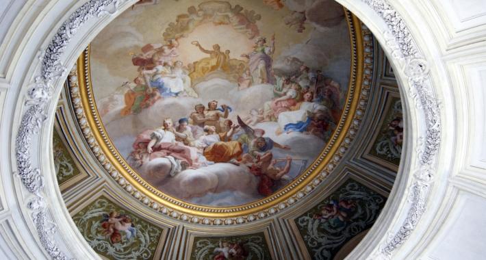 Una cupola della Reggia di Caserta