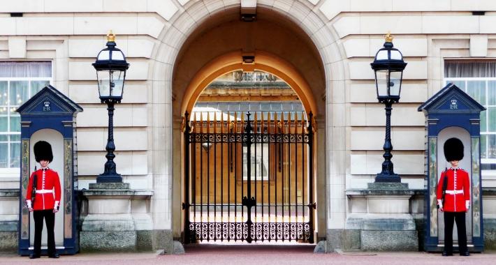 Buckingham Palace e le sue guardie. Londra