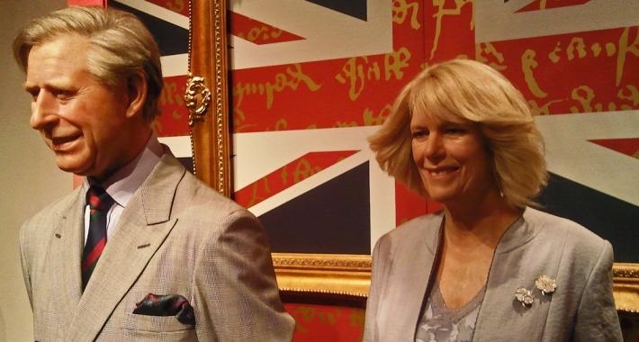 Principe Carlo e Camilla del Museo delle cere Madame Tussauds di Londra