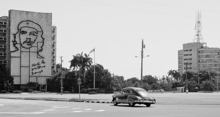 Il grande murales di Che Guevara della Plaza de la Revolución a Cuba