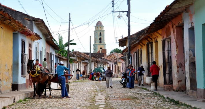 Una via di Trinidad, Cuba.