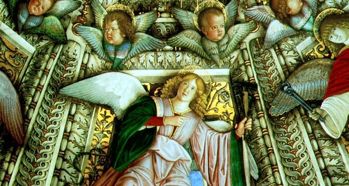 Dipinto del Melozzo nella Santa Casa di Loreto