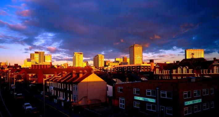 Croydon al tramonto