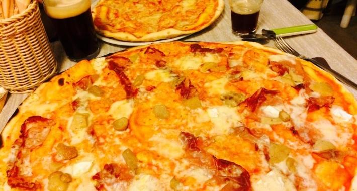 Pizza con doppio impasto
