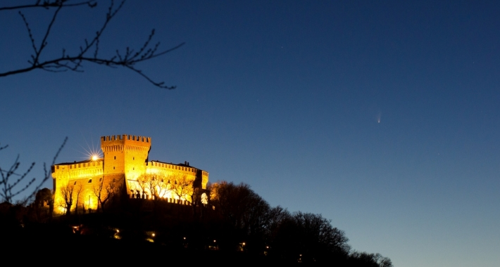 Il Castello di Gradara di notte