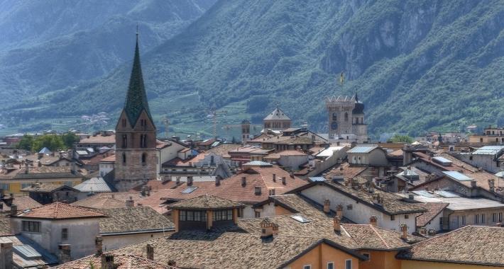 Veduta di Trento dal Castello del Buonconsiglio