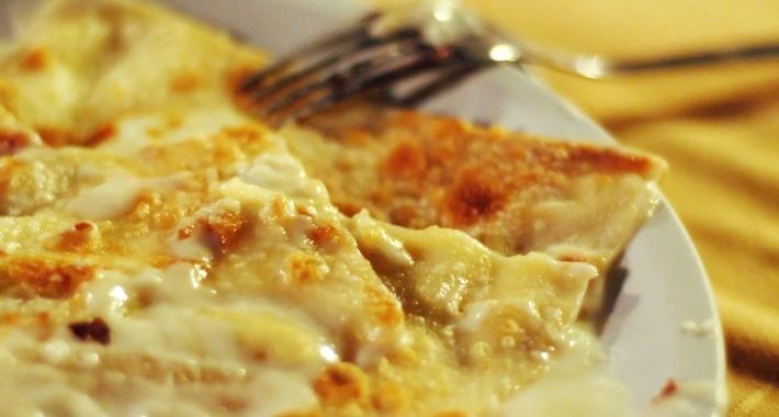 Deliziosa focaccia al formaggio di Recco