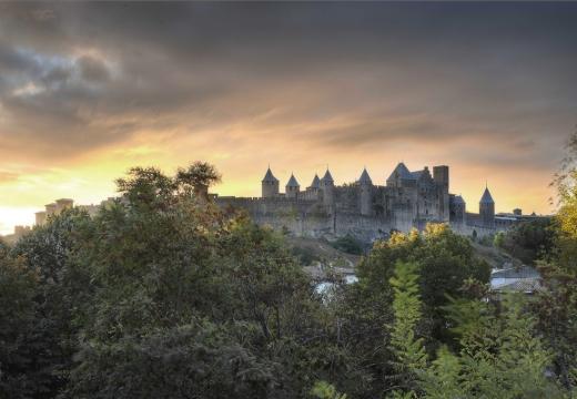 Vista panoramica di Carcassonne