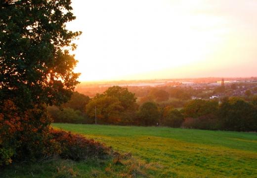 Tramonto visto da Horsenden Hill, Ealing, Londra